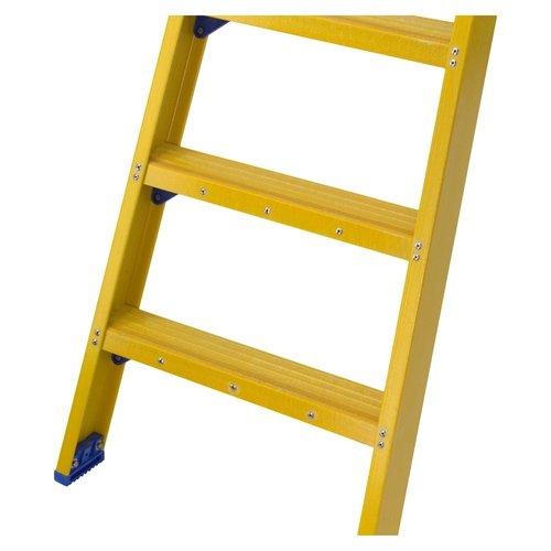 Staltor Bordestrap glasvezelversterkt enkel 1x3 treden inclusief platform