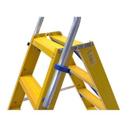 Staltor Trap glasvezelversterkt Type DT dubbel 2x3 treden inclusief platform + vaste beugel