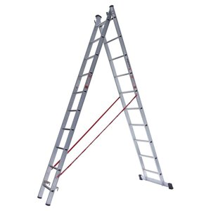 Euroline Euroline Ladder dubbel recht 2x14 sporten