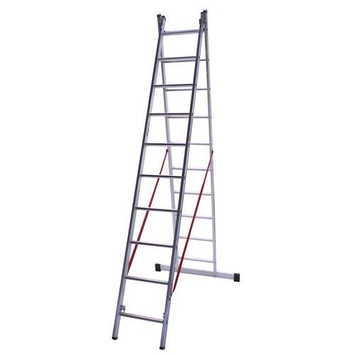 Euroline Ladder dubbel recht 2x14 sporten