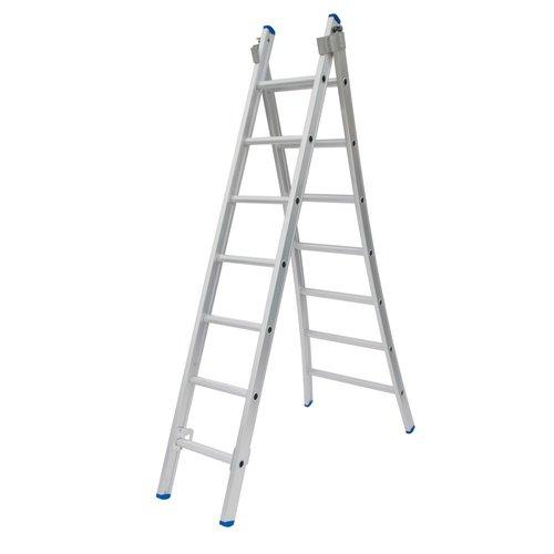 Solide Solide Ladder Type C gecoat dubbel uitgebogen 2x7 sporten