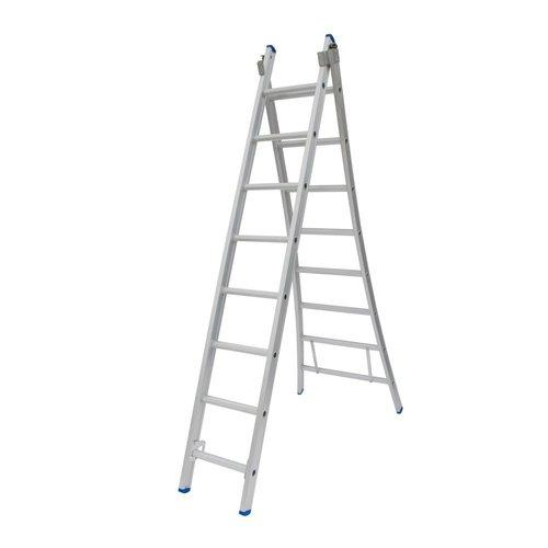 Solide Solide Ladder Type C gecoat dubbel uitgebogen 2x8 sporten