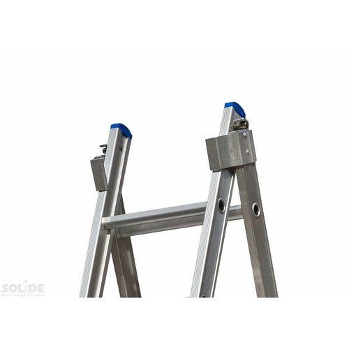 Solide Ladder Type C gecoat dubbel uitgebogen 2x9 sporten
