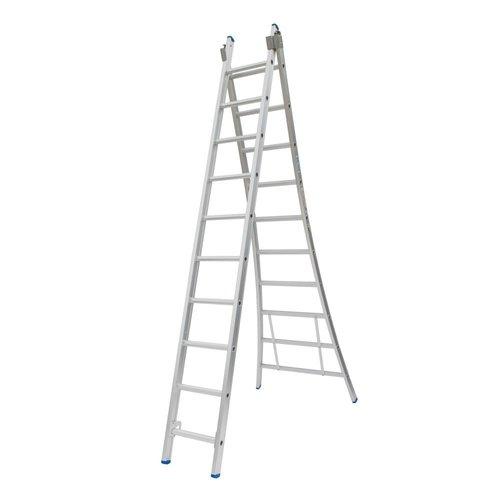 Solide Ladder Type C gecoat dubbel uitgebogen 2x10 sporten