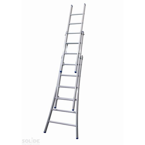 Solide Solide Ladder Type D gecoat driedelig uitgebogen 3x6 sporten