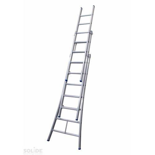 Solide Solide Ladder Type D gecoat driedelig uitgebogen 3x7 sporten