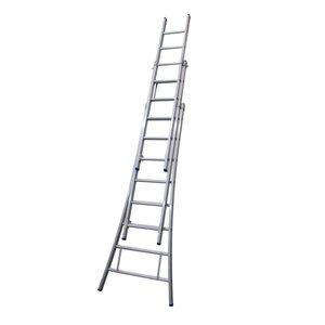 Solide Solide Ladder Type D gecoat driedelig uitgebogen 3x8 sporten