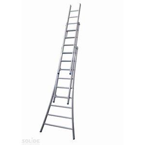 Solide Solide Ladder Type D gecoat driedelig uitgebogen 3x9 sporten