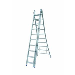 Solide Solide Ladder Type D gecoat driedelig uitgebogen 3x10 sporten