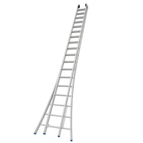 Solide Ladder Type CB dubbel uitgebogen 2x18 sporten + gevelrollen