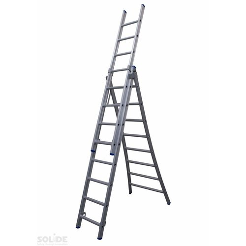 Solide Ladder Type DB driedelig uitgebogen 3x8 sporten