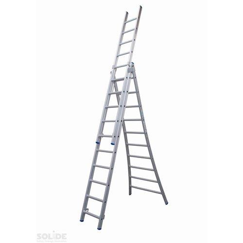 Solide Ladder Type DB driedelig uitgebogen 3x10 sporten