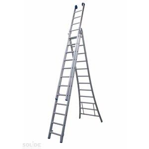 Solide Solide Ladder Type DB driedelig uitgebogen 3x14 sporten + gevelrollen