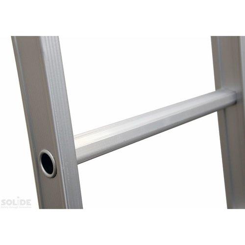 Solide Ladder Type DB driedelig uitgebogen 3x14 sporten + gevelrollen