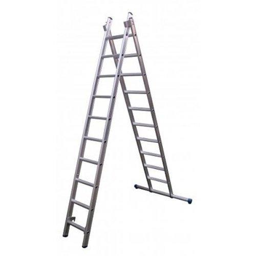 Eurostairs Eurostairs Reform ladder dubbel recht 2x12 sporten + gevelrollen