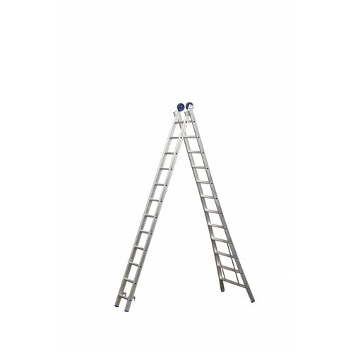 Eurostairs Eurostairs Reform ladder dubbel uitgebogen 2x7 sporten