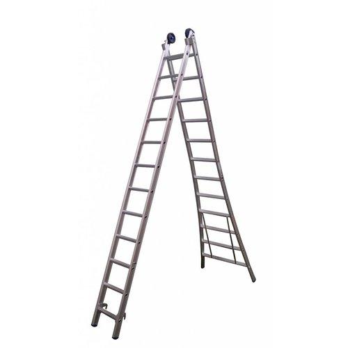 Eurostairs Eurostairs Reform ladder dubbel uitgebogen 2x9 sporten