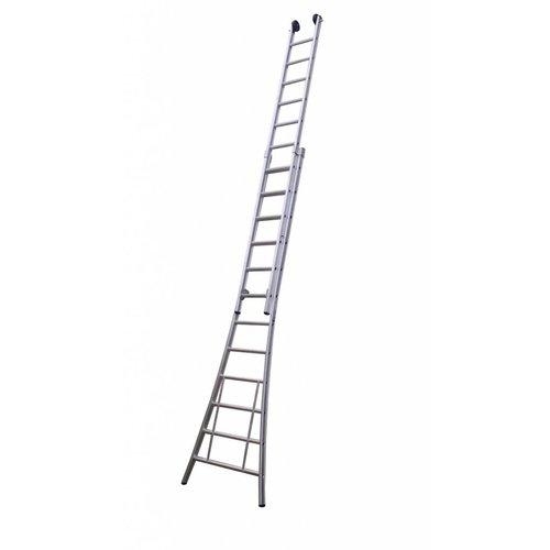 Eurostairs Eurostairs Opsteek ladder dubbel uitgebogen 2x16 sporten + gevelrollen