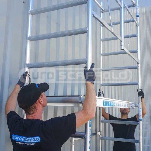 Euroscaffold Combi kamersteiger 75x190x4,7m werkhoogte + stabilisator