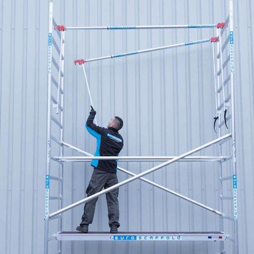 Euroscaffold Vouwsteiger 75x190 5,8m werkhoogte + vario voorloopleuning