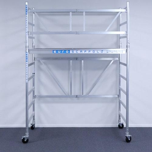 Euroscaffold Kamersteiger 90x190x3m werkhoogte + platform 30 cm + uitbreiding B