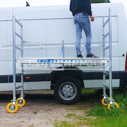Euroscaffold Kamersteiger 75x190x3m inclusief tuinsteigerwielen
