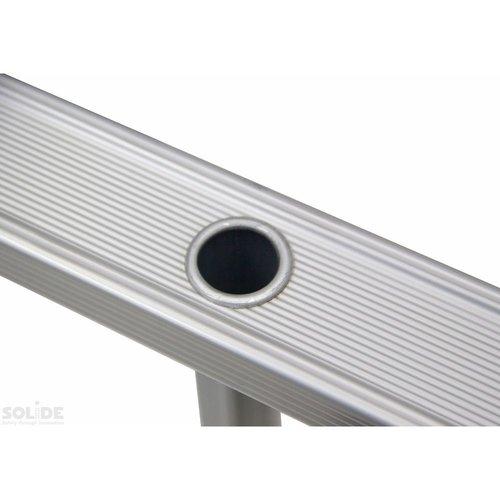 Solide Solide Ladder Type D gecoat driedelig uitgebogen 3x12 sporten + gevelrollen