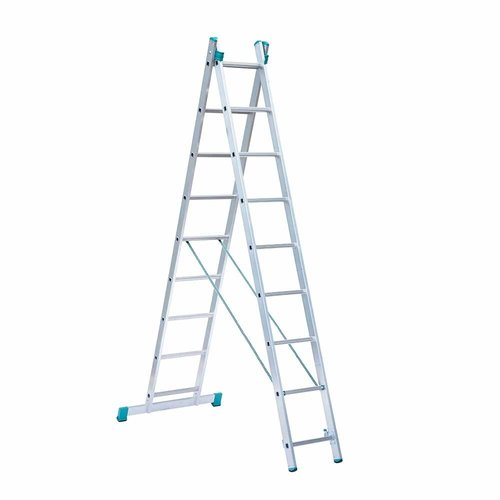 Eurostairs Eurostairs home reform ladder dubbel recht 2x9 sporten