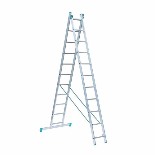 Eurostairs Eurostairs home reform ladder dubbel recht 2x11 sporten