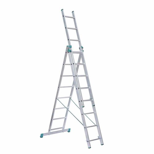 Eurostairs Eurostairs home reform ladder driedelig recht 3x8  sporten