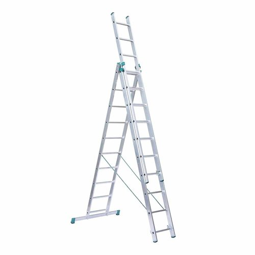 Eurostairs Eurostairs home reform ladder driedelig recht 3x10 sporten