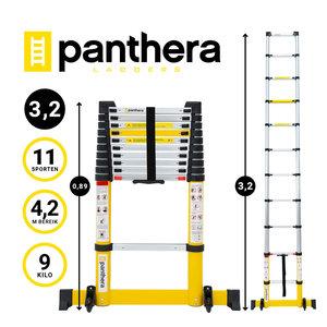 Panthera Telescoopladder Yellow 3,2 meter