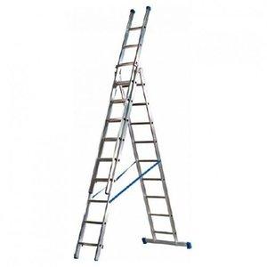 Maxall Maxall Driedelige ladder 3x10 Basic-Line
