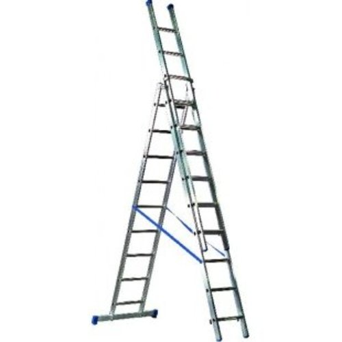 Driedelige ladder 3x9 Basic-Line Maxall