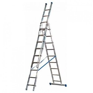 Driedelige ladder 3x8 Basic-Line Maxall