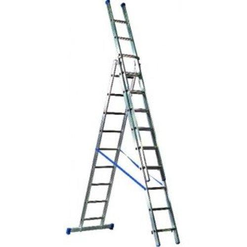 6b34e78ba51 Driedelige ladder 3x8 Basic-Line Maxall - TelescoopLadderShop.nl