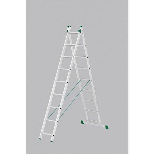 Maxall Maxall Tweedelige ladder 2x9 Basic-Line