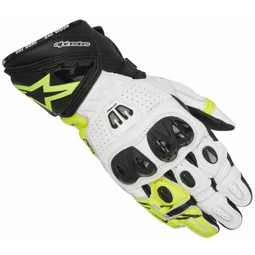 Alpinestars Gp Pro R2 Gloves - Black/White/Yellow Fluo