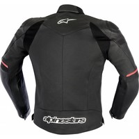 Alpinestars Sp-1 Leather Jacket - Black/Red Fluo