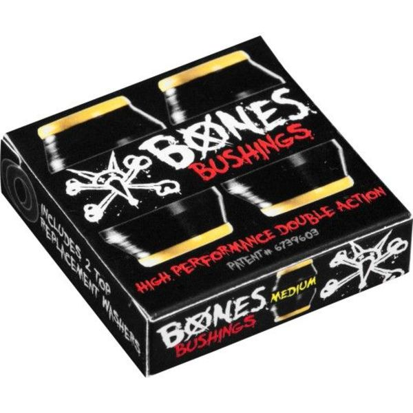 Bones Bushings Medium Pack Black
