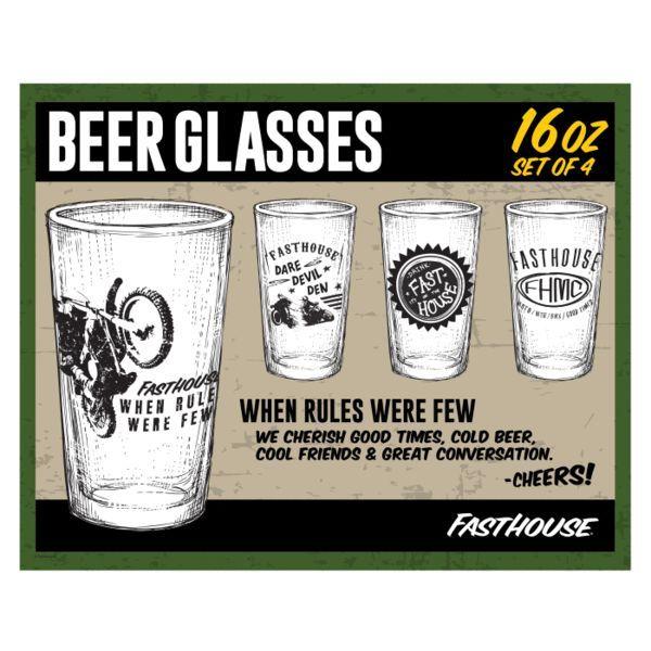 "Fasthouse® ""When Rules Were Few"" Glasses - 4 per box"