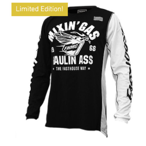Fasthouse® Mixin Gas & Haulin Ass Jersey - Black