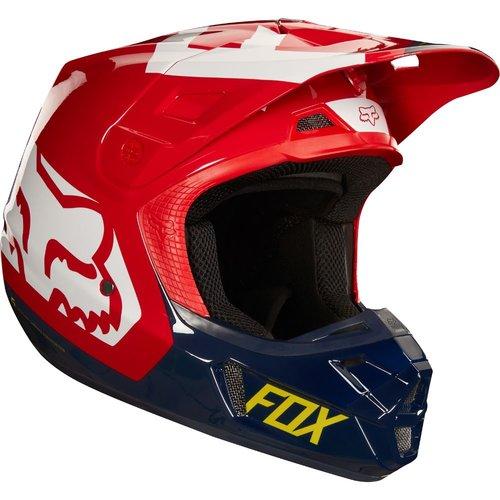 Fox V2 Preme - Navy/Red