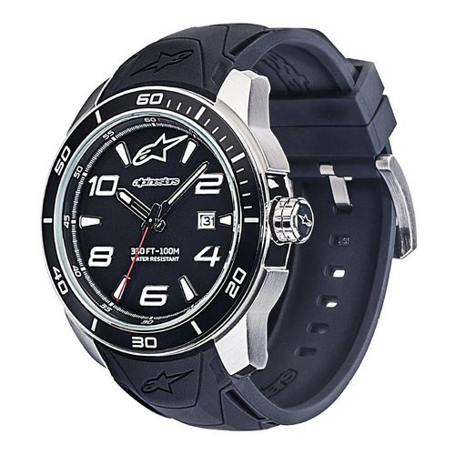 Alpinestars Tech Watch 3h Silicon Strap - Black/Steel