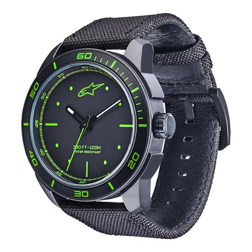 Alpinestars Tech Watch 3h - Black/Green Nylon Strap