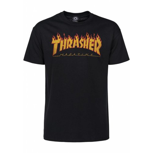 Thrasher Flame Halftone Tee - Black