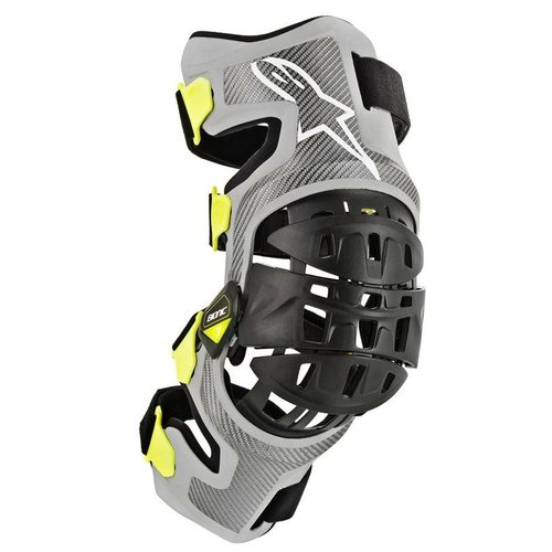 Alpinestars Bionic-7 Knee Brace Set - Silver Yellow Fluo