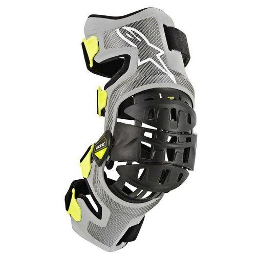 Alpinestars Bionic-7 Knee Brace Set - Silver Yellow Fluo
