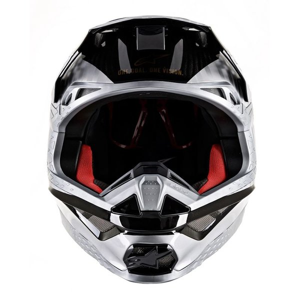 Alpinestars Supertech S-M10 Alloy Helmet - Silver/Black/Carbon/Gold