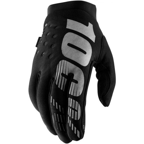 100% Brisker Glove - Black/Grey